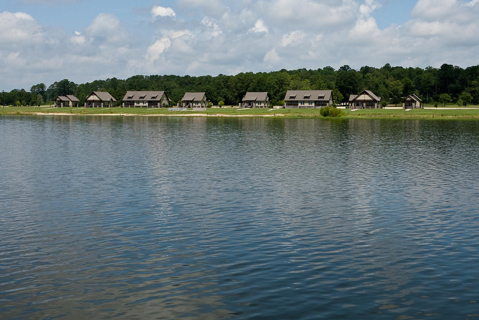 Lakepoint State Park Cottages Across Water