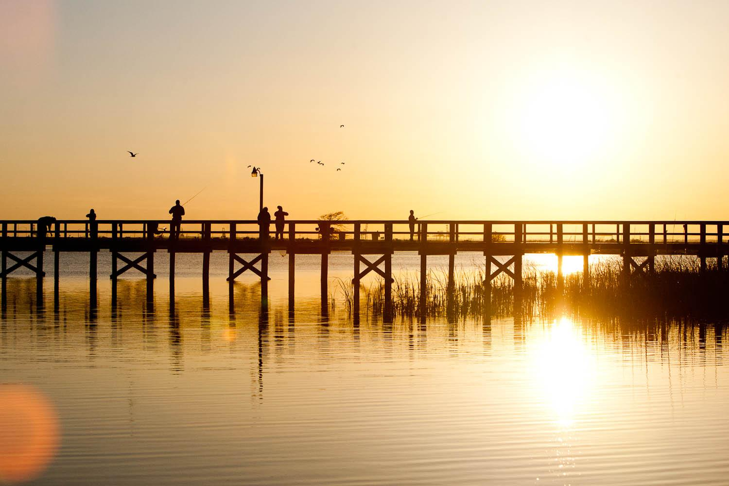 Meaher State Park Pier Sunset