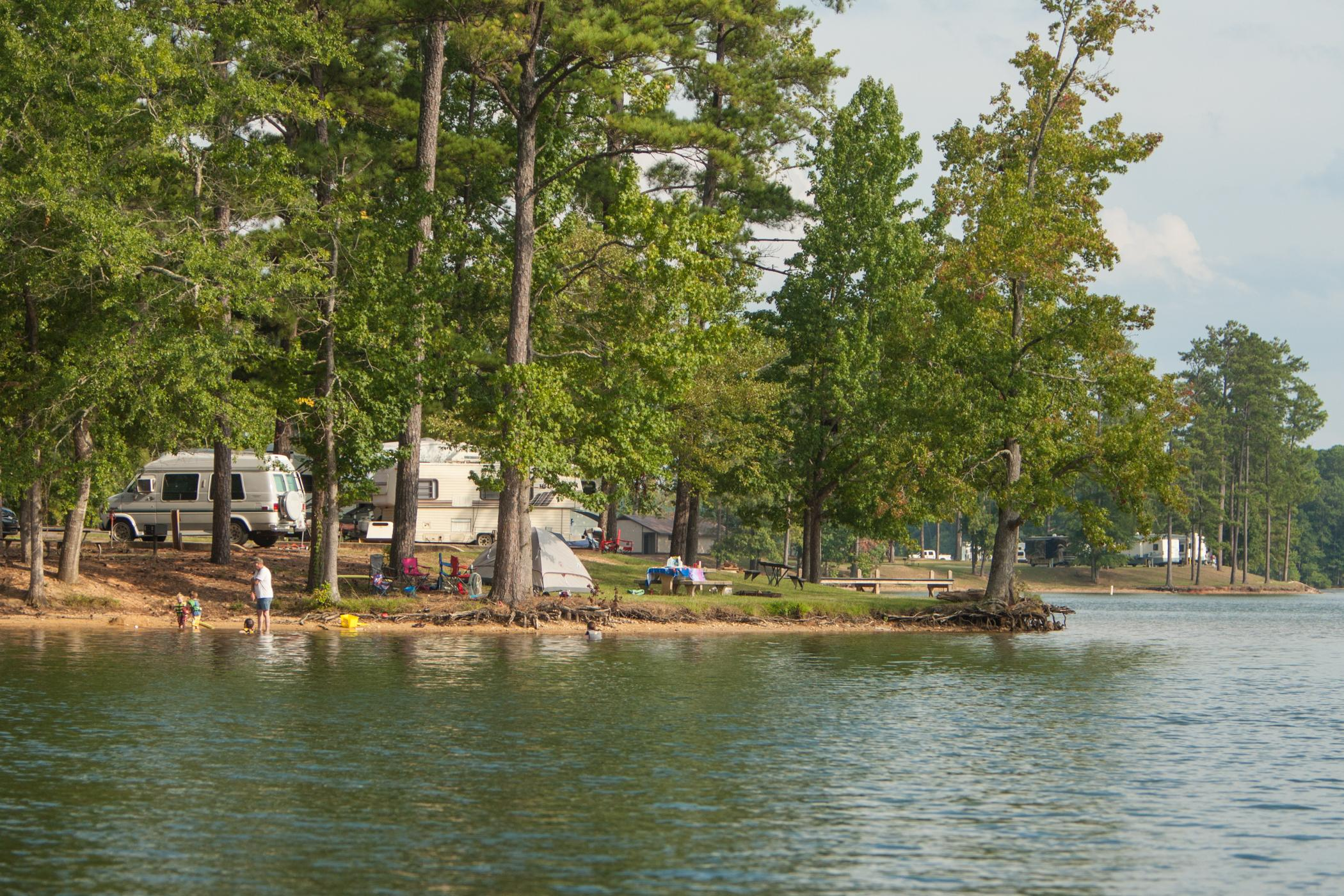 Wind Creek State Park Campground From Water