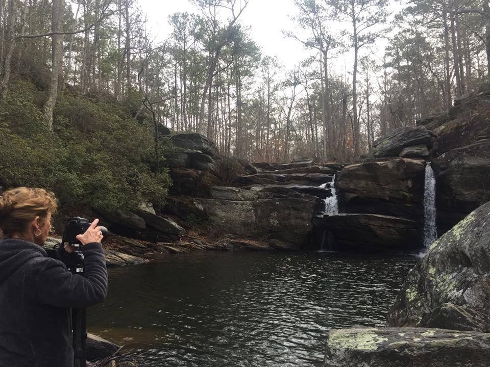 Cheaha Falls in the Talladega National Forest