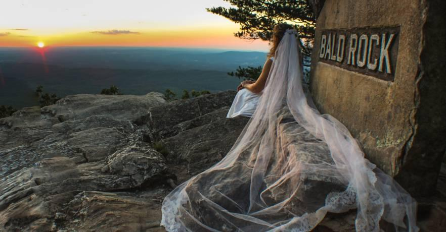 Cheaha Bride at Bald Rock