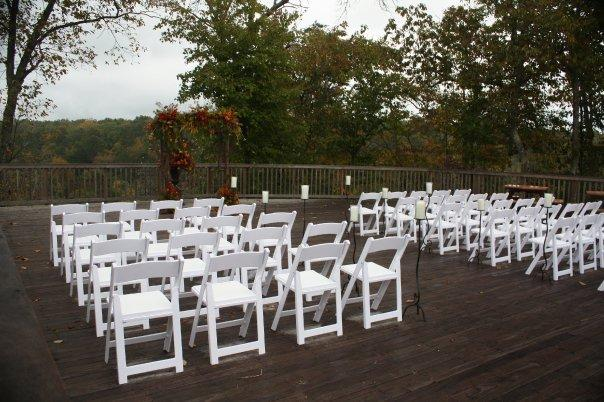 DeSoto State Park Wedding Arranged on Back Deck of Restaurant