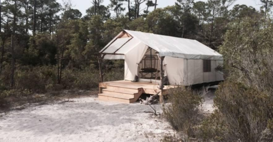 Side view of Outpost tent