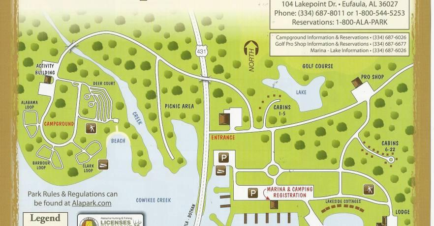 Lakepoint Map of Park