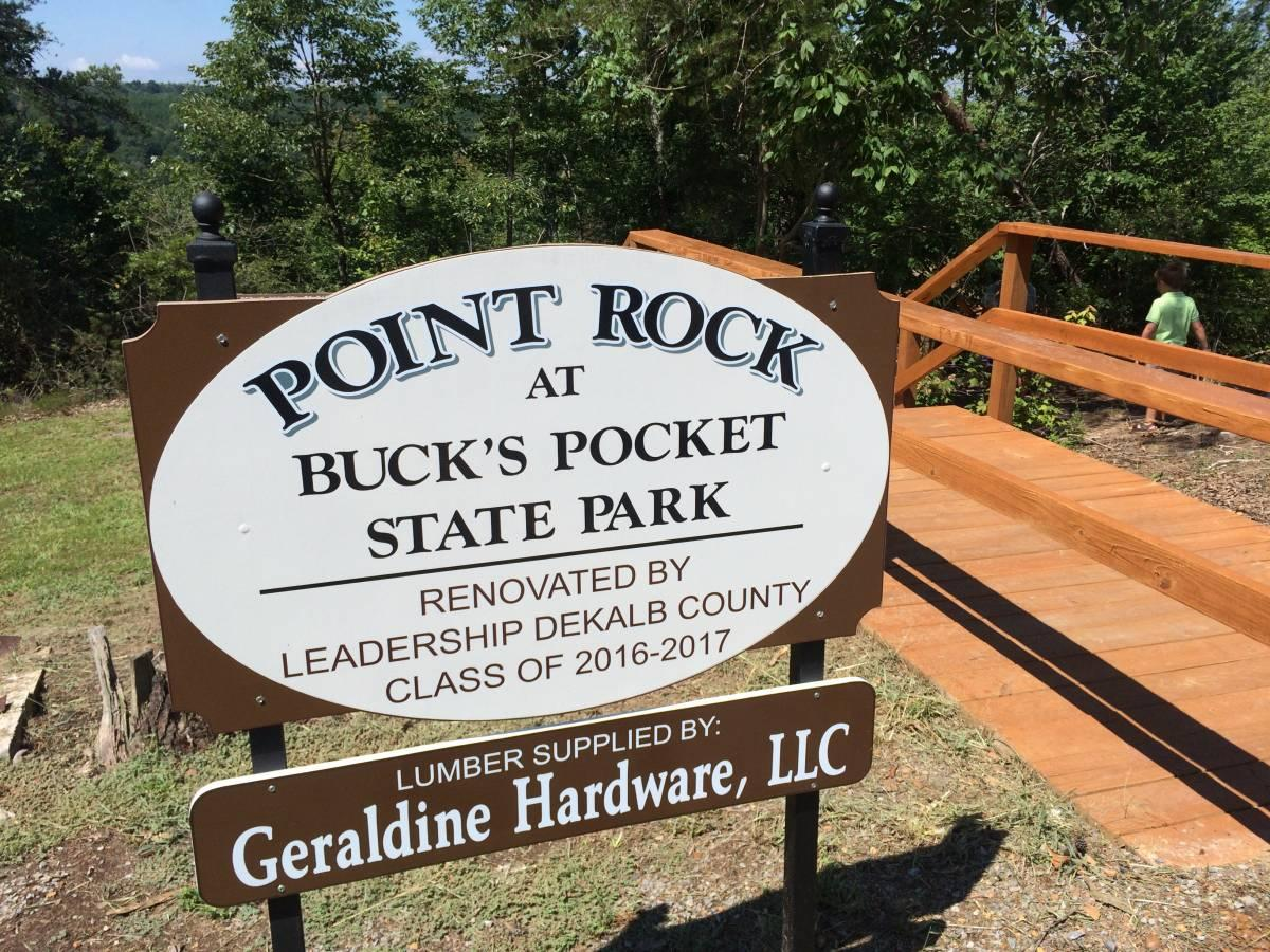 Bucks Pocket State Park Overlook Dedication