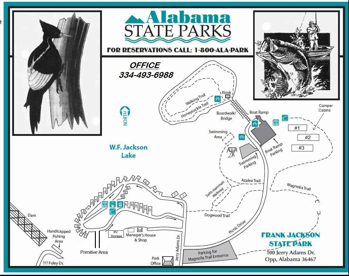 Frank Jackson State Park Map