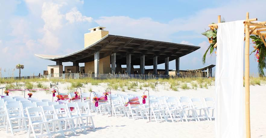 Beach Pavilion Wedding Set Up