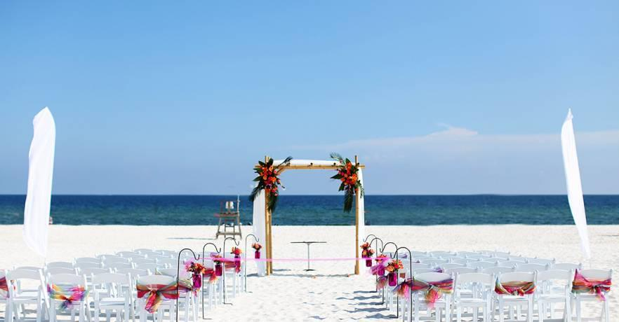 Beach Pavilion Wedding View of the Gulf