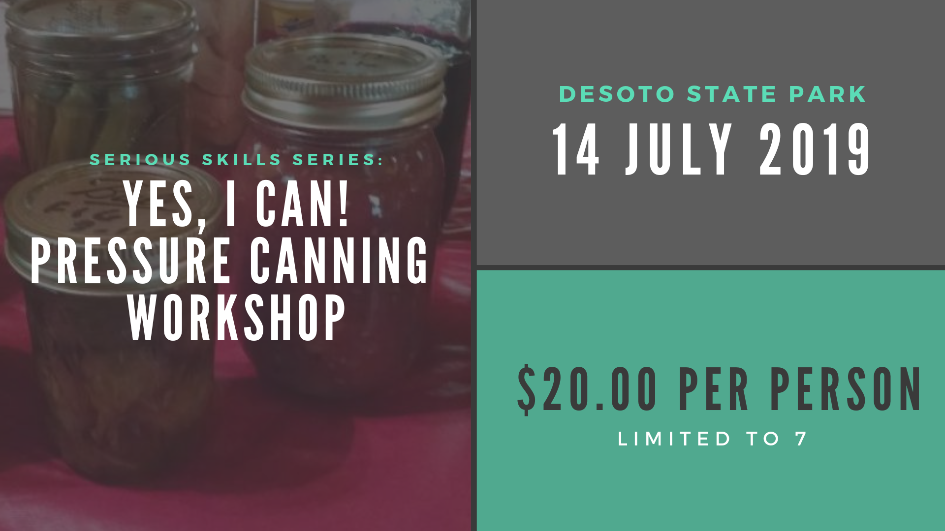 Yes, I can! Pressure Canning Workshop