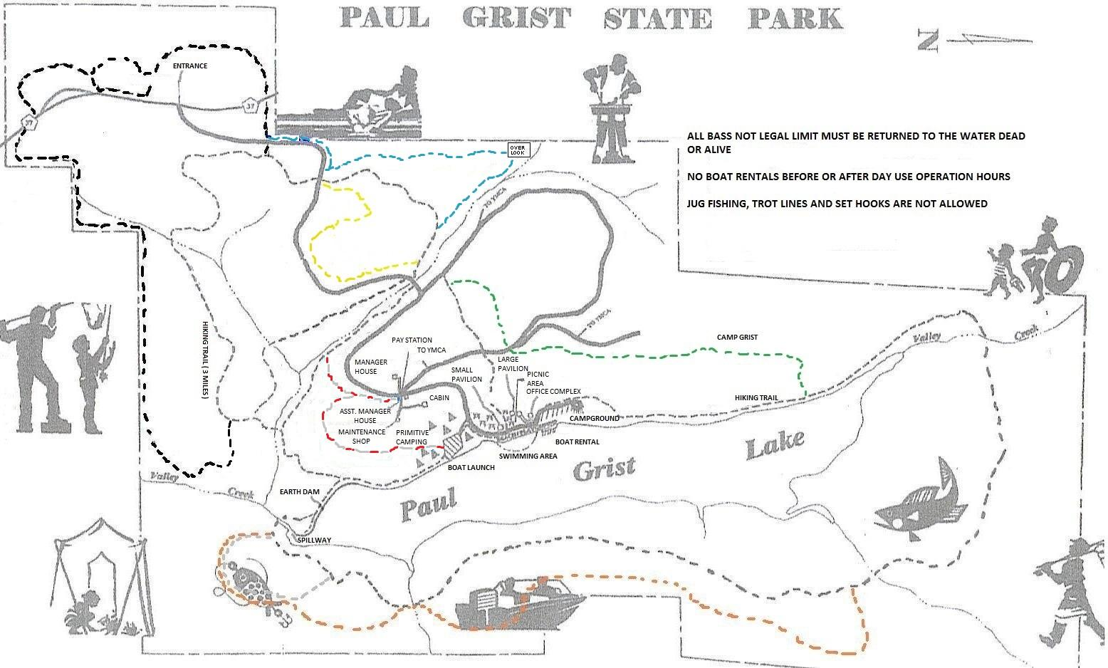 Paul Grist State Park Map