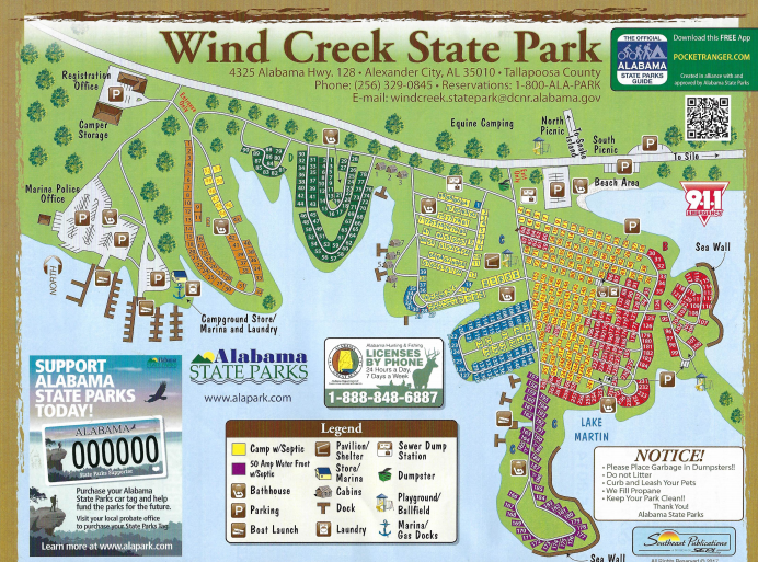 Campground Map Windcreek