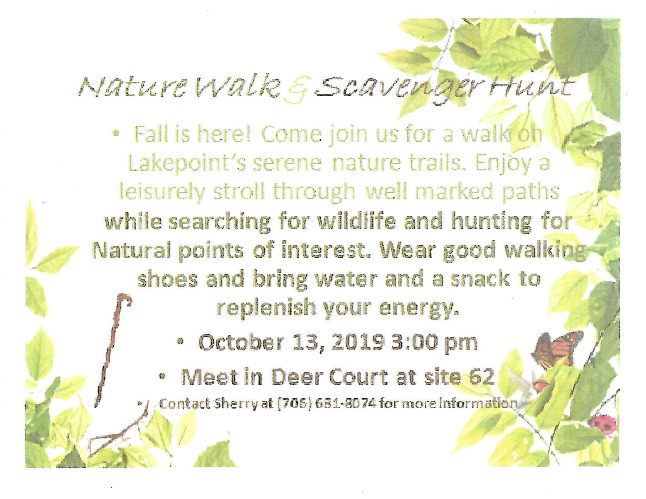 Lakepoint Nature Walk & Scavenger Hunt