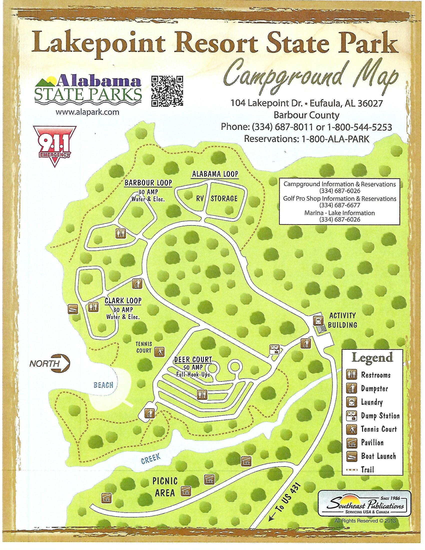 Lakepoint Campground Map