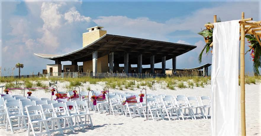 Beach Pavilion Wedding Setup