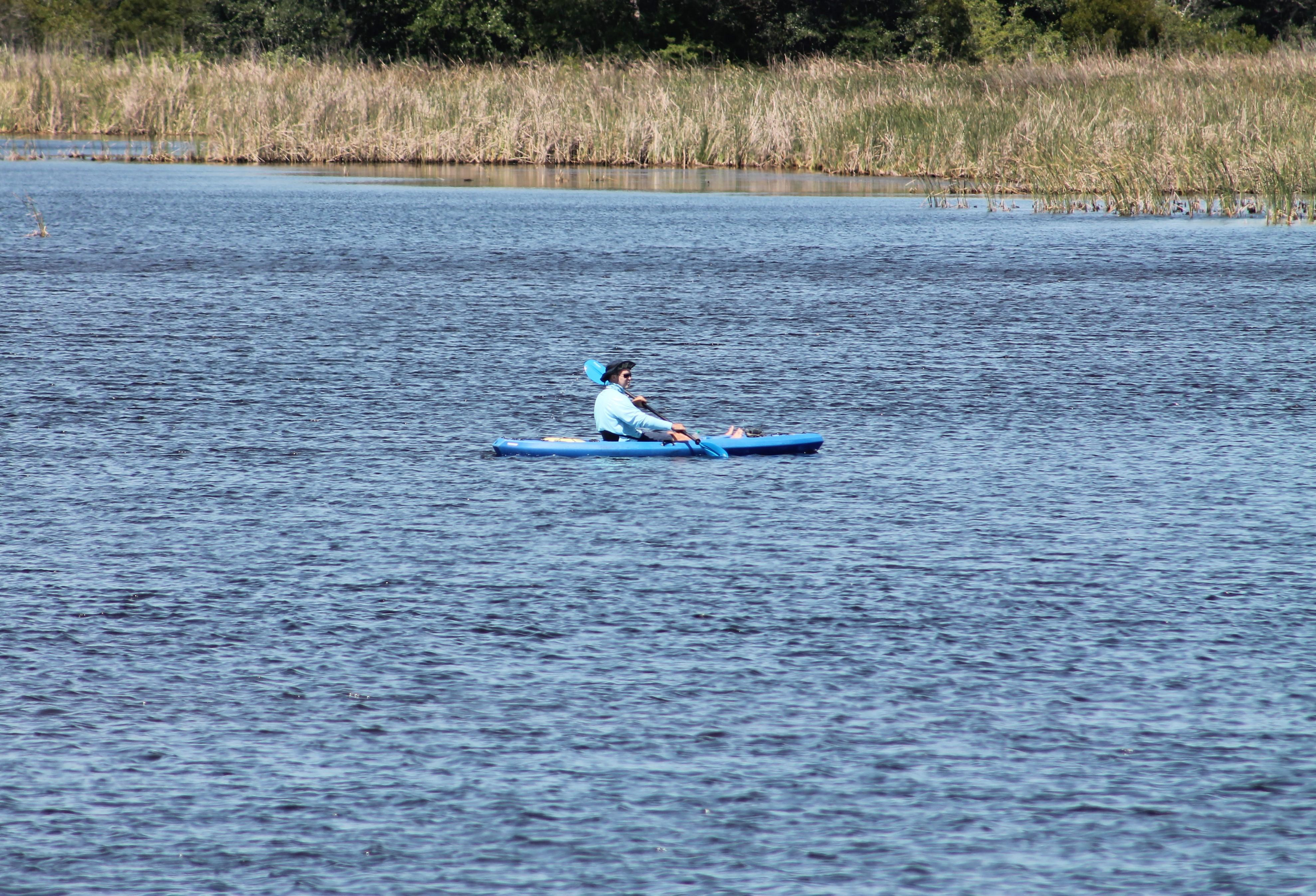 Kayaker Enjoying Lake Shelby