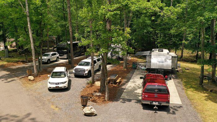 Buck's Pocket State Park Renovated Campground