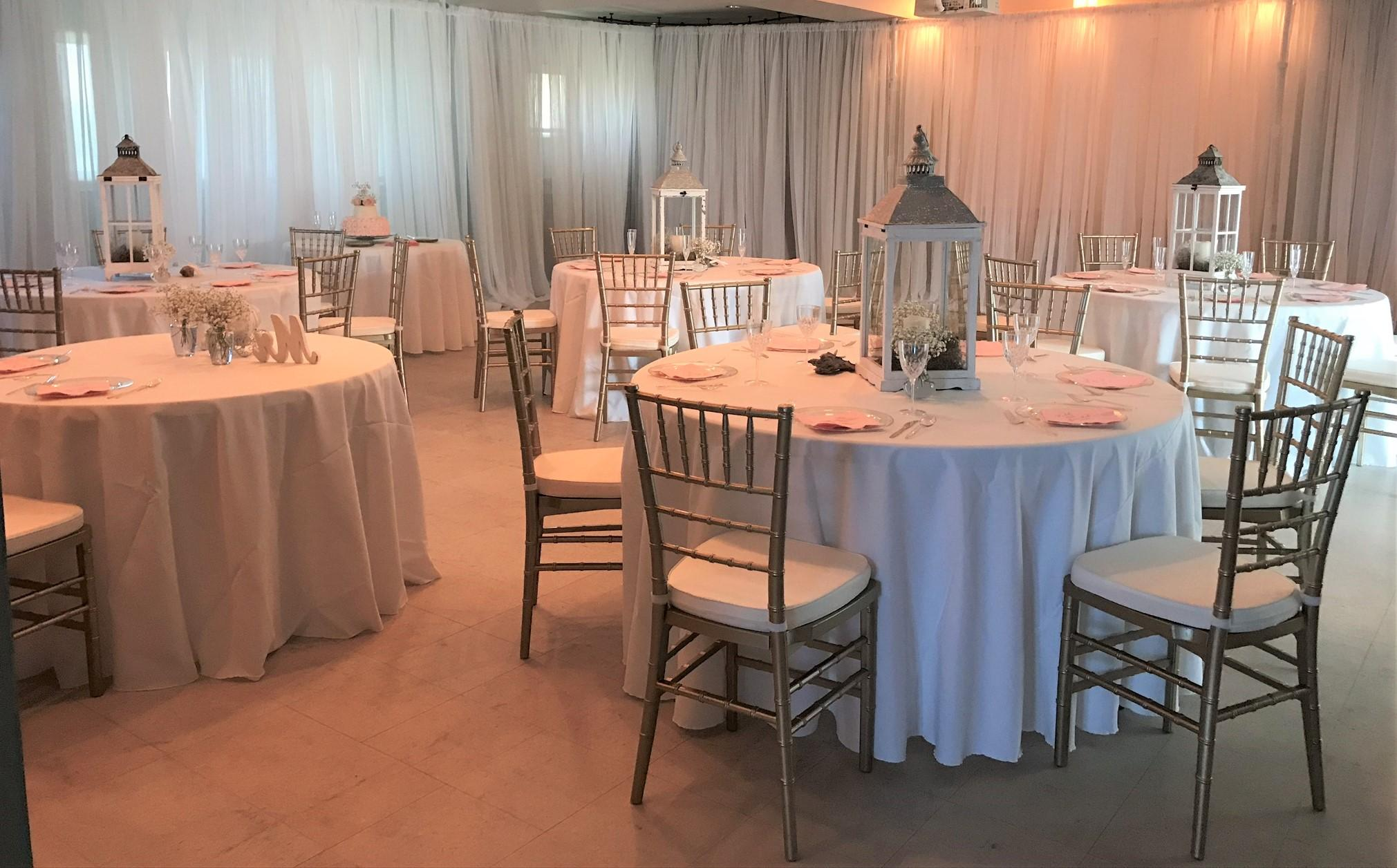 Wedding Reception at GSP Education Building Set Up